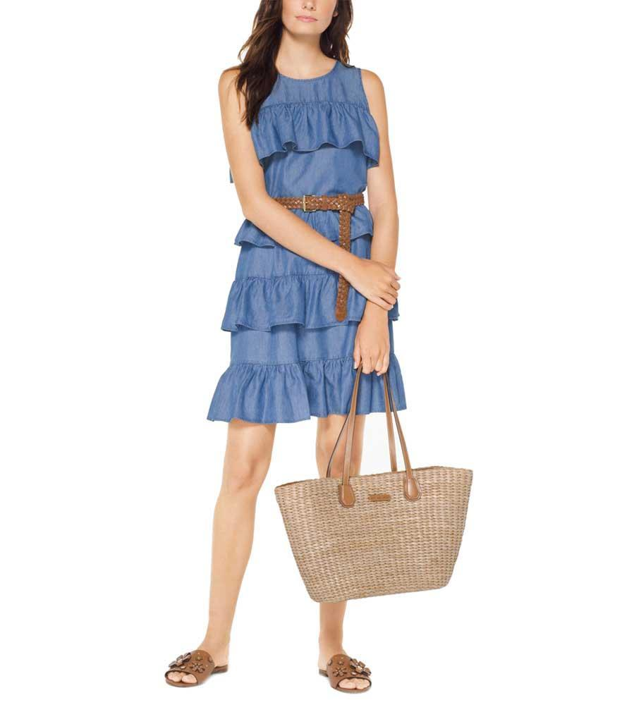 Ruffle tier denim dress. (Photo: Michael Kors)