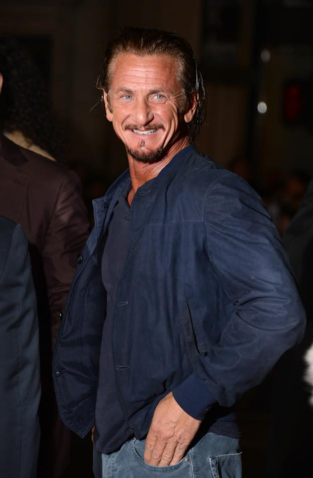 HOLLYWOOD, CA - JANUARY 07:  Actor Sean Penn arrives at Warner Bros. Pictures' 'Gangster Squad' premiere at Grauman's Chinese Theatre on January 7, 2013 in Hollywood, California.  (Photo by Jason Merritt/Getty Images)