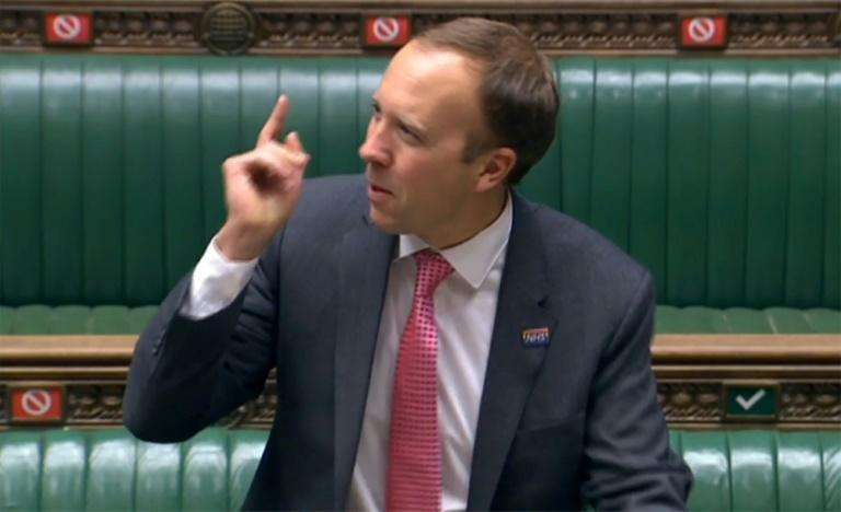 """British Health Secretary Matt Hancock warned the country was at a """"tipping point"""" as virus infections spike"""