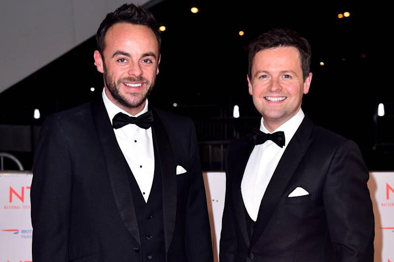 TV duo: Ant McPartlin and Declan Donnelly (Matt Crossick/PA)