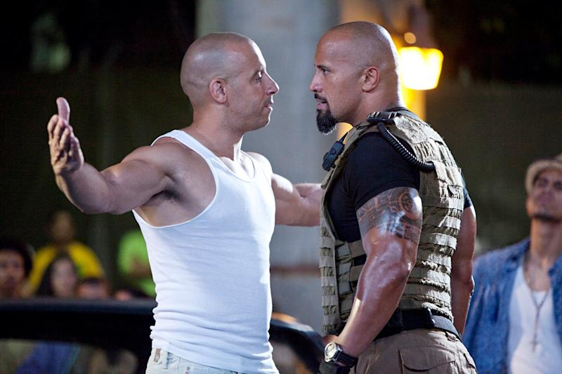 Vin Diesel and Dwanye Johnson (Credit: Universal)