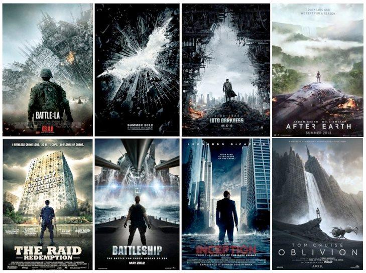 Movie posters that look similar