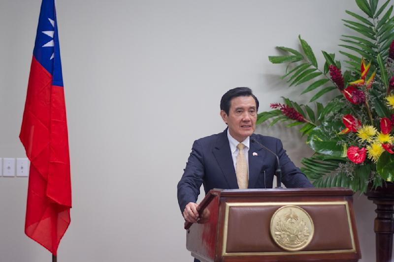 Taiwanese President Ma Ying-jeou, pictured June 14 2015 on a visit to Haiti, will travel to Singapore November 7 for a historic meeting with Chinese counterpart Xi Jinping