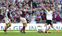 Ryan Fredricks stamped on Jack Grealish earlier in the match but the referee took no action. Villa went on to lose the game 1-0. (Play-Off Final - 26 May 2018)