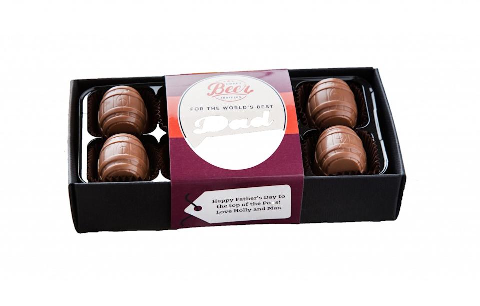 """<p><a href=""""https://www.notonthehighstreet.com/thechocolatelibrary/product/world-s-best-dad-craft-beer-chocolates"""" rel=""""nofollow noopener"""" target=""""_blank"""" data-ylk=""""slk:Not On The High Street, £12"""" class=""""link rapid-noclick-resp"""">Not On The High Street, £12</a> </p>"""