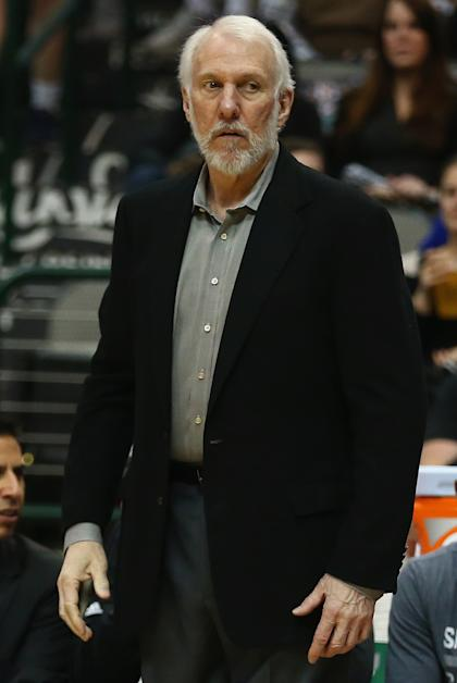 Gregg Popovich stares down all of us. (Ronald Martinez/Getty Images)