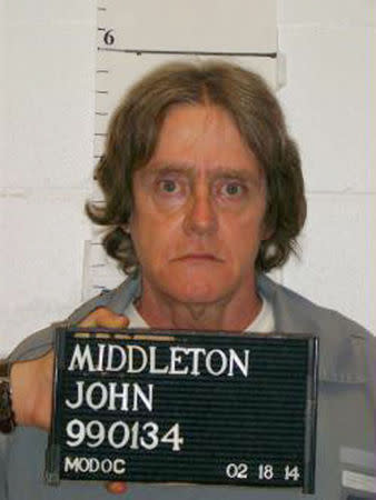 Missouri Department of Corrections handout shows death row inmate John Middleton