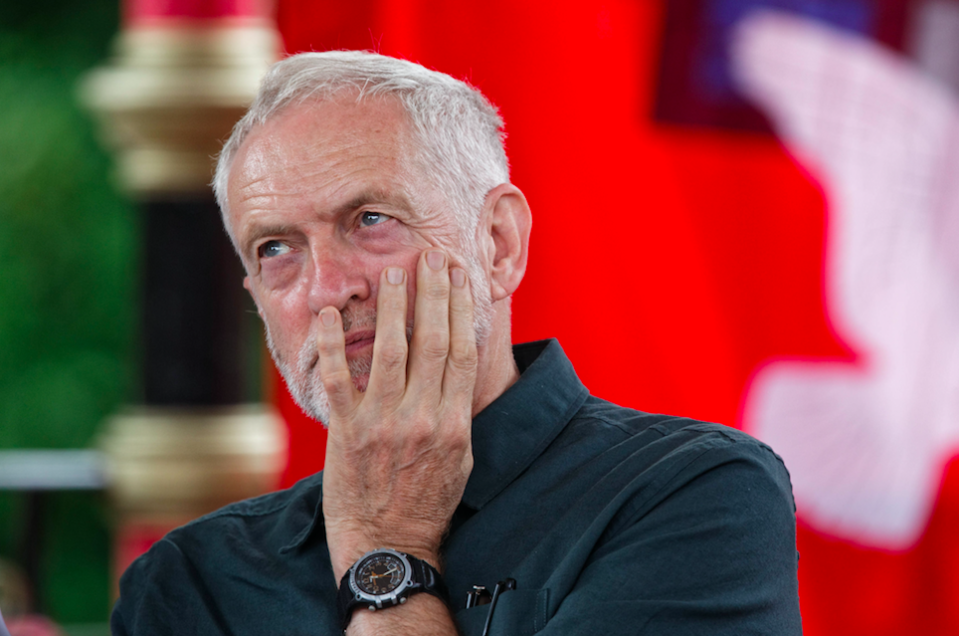 <em>Jeremy Corbyn was branded a 'racist' after Labour's plans to tackle anti-Semitism were condemned by Jewish groups (Rex)</em>