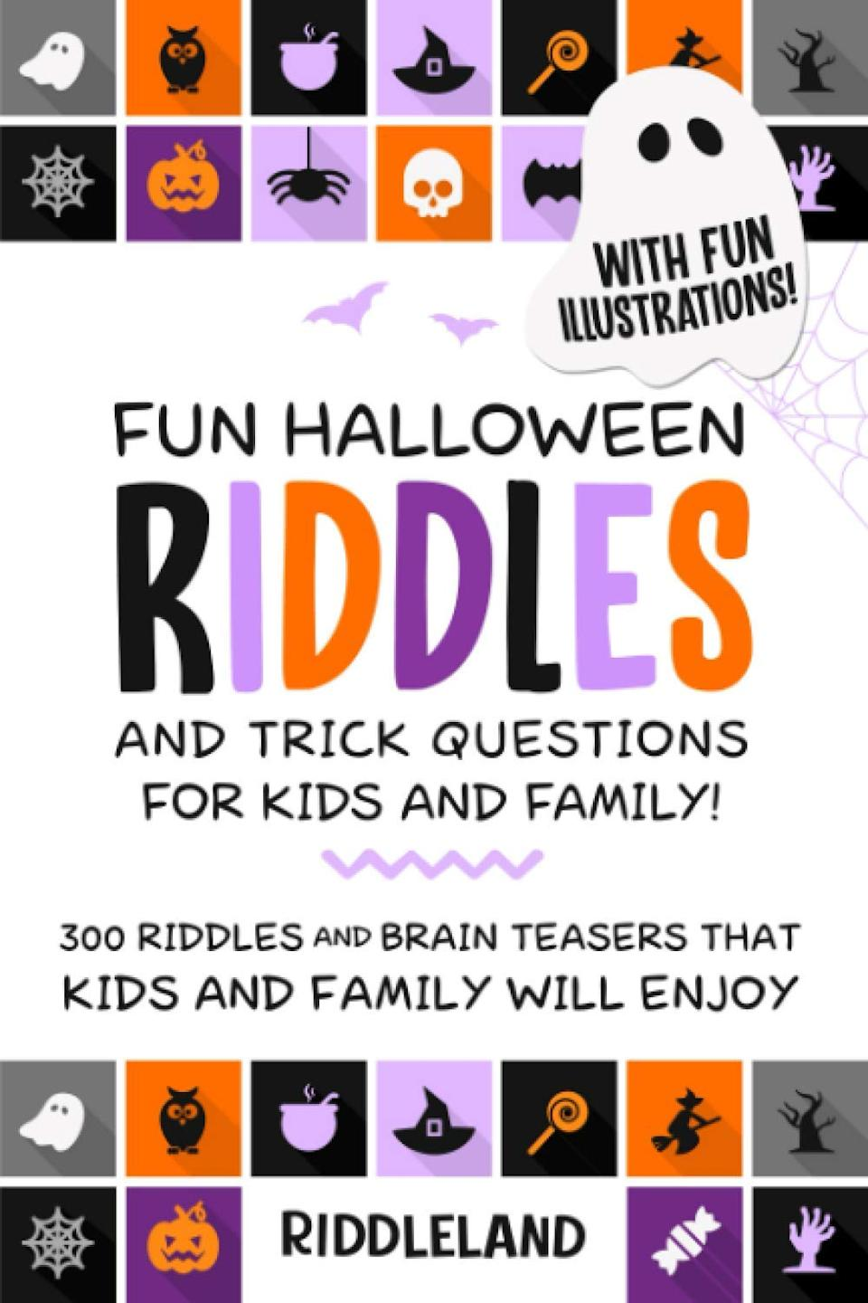 Halloween Riddles and Trick Questions for Kids and Family book, $14.23,