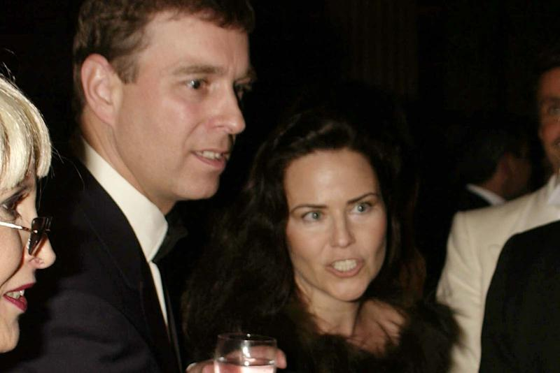 The actress with ex-boyfriend Prince Andrew (Dave Benett)