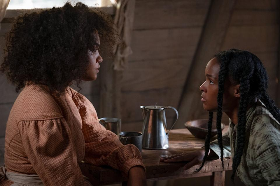 "Kiersey Clemons and Janelle Monáe in ""Antebellum,"" now available to rent through video-on-demand services. (Photo: Lionsgate)"