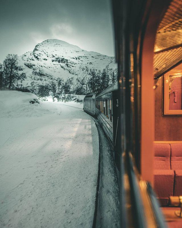"""<p>If you've got a stomach for heights and want to experience some of Scandinavia's most inspiring views from the comfort of a train carriage, then hop onboard Flamsbana 'Corkscrew Railway' - one of the world's steepest standard gauge railways.</p><p>Clinging to sheer mountains, the Flam Railway descends through stunning scenery as it takes you on a breathtaking six-hour journey from the mountain resort of Myrdal down to Flam. You'll chug past tumbling waterfalls as it twists and turns the 865 metre descent through the forest covered valley – usually coated with thick snow in winter – to the shores of Aurlandsfjord.</p><p><strong>Ride the Corkscrew Railway with Country Living in April or October 2022.</strong></p><p><a class=""""link rapid-noclick-resp"""" href=""""https://www.countrylivingholidays.com/tours/norway-fjords-rail"""" rel=""""nofollow noopener"""" target=""""_blank"""" data-ylk=""""slk:FIND OUT MORE"""">FIND OUT MORE</a></p><p><a href=""""https://www.instagram.com/p/CI6DymxFXJ5/"""" rel=""""nofollow noopener"""" target=""""_blank"""" data-ylk=""""slk:See the original post on Instagram"""" class=""""link rapid-noclick-resp"""">See the original post on Instagram</a></p>"""