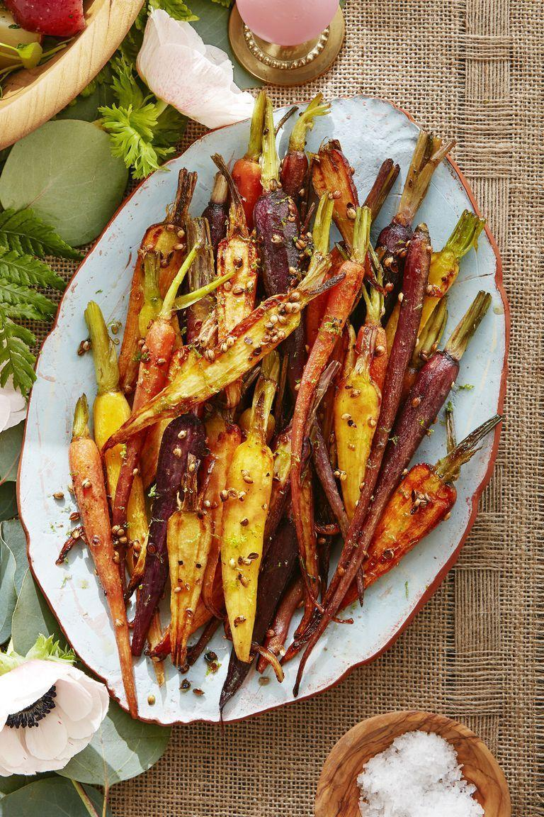 """<p>This stunning dish gets a burst of citrusy flavor from lime zest.</p><p><strong><a href=""""https://www.countryliving.com/food-drinks/a19041568/coriander-maple-glazed-carrots-recipe/"""" rel=""""nofollow noopener"""" target=""""_blank"""" data-ylk=""""slk:Get the recipe"""" class=""""link rapid-noclick-resp"""">Get the recipe</a>.</strong></p>"""