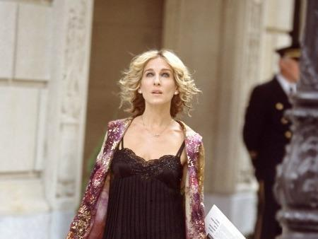 Carrie Bradshaw in a slip dress (Sex and the City/HBO)