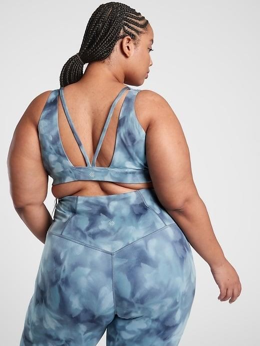 <p>The <span>Athleta Exhale Printed Bra A-C</span> ($35-$54, originally $54) and <span>Athleta Exhale Printed Bra D-DD+</span> ($35-$54, originally $54) can hold you tight through the low-impact workout of your choosing. </p>