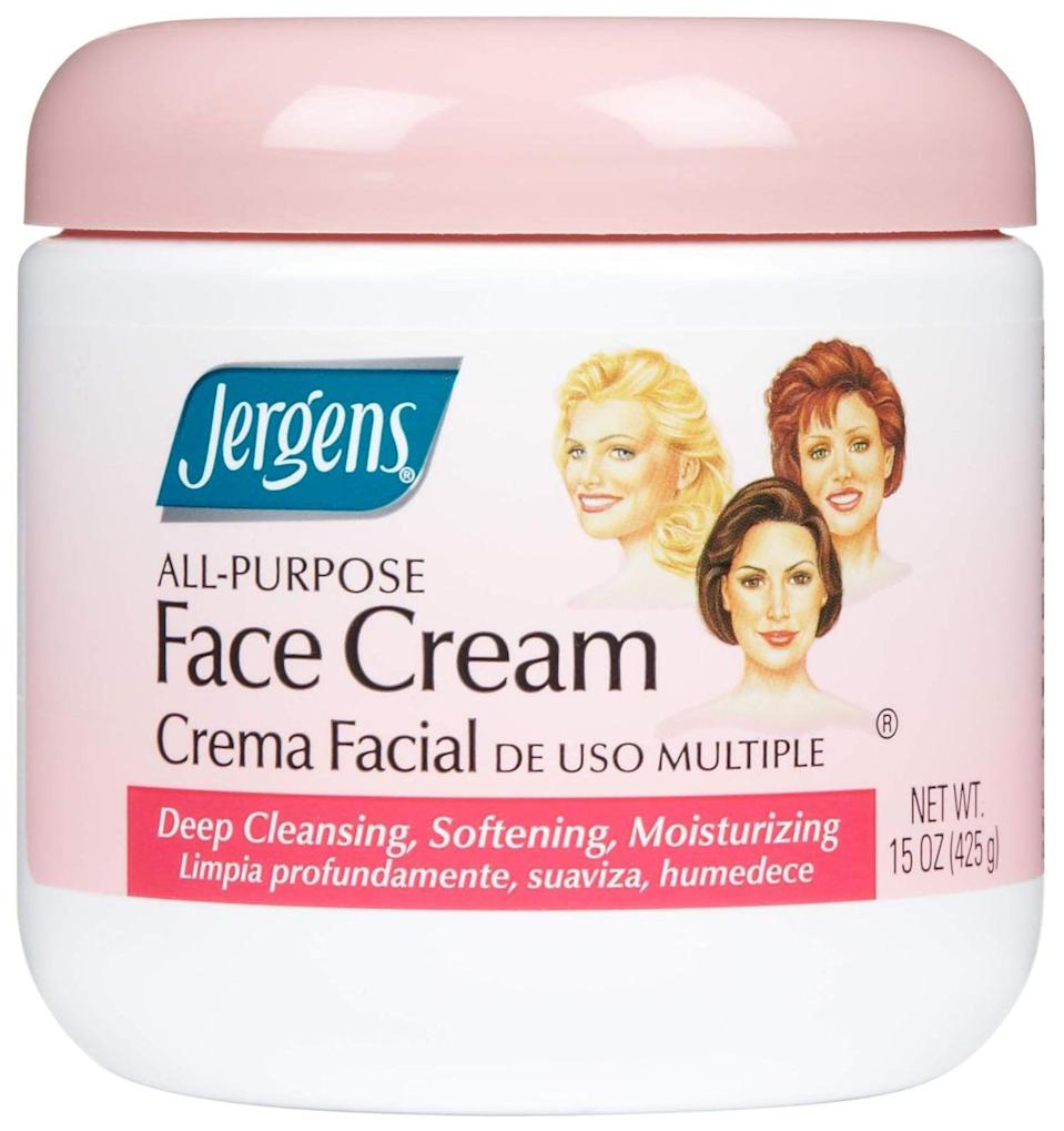 <p>Whether you need to moisturize or cleanse the <span>Jergens All-Purpose Face Cream</span> ($5) has got your back!</p>
