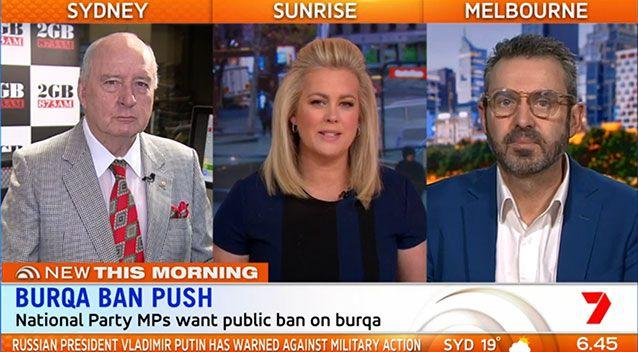 The panel couldn't agree on whether there was enough justification to see the garment banned. Source: Sunrise