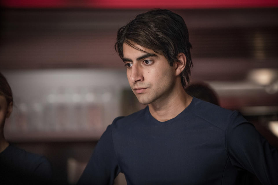 """This image released by Lionsgate shows Viveik Kalra in a scene from """"Voyagers."""" (Lionsgate via AP)"""