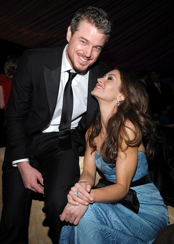 """<a href=""""/eric-dane/contributor/58040"""">Eric Dane</a> and <a href=""""/rebecca-gayheart/contributor/34948"""">Rebecca Gayheart</a> at the In Style and Warner Bros. 2007 Golden Globe After Party."""