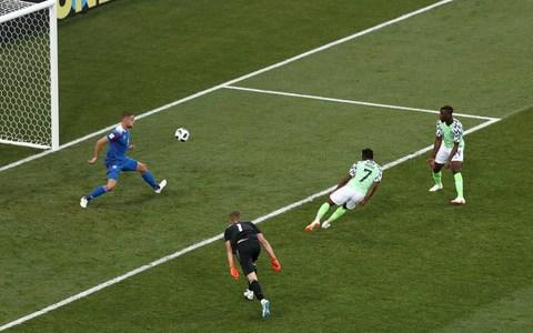 Nigeria's Ahmed Musa scores their second goal - Credit: Reuters