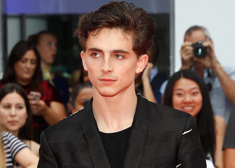 Actor Timothée Chalamet arrives for the world premiere of Beautiful Boy at the Toronto International Film Festival (TIFF) in Toronto, Canada, September 7, 2018. REUTERS/Mark Blinch