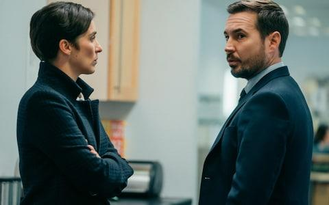 Vicky McClure and Martin Compston as Kate and Steve - Credit: BBC