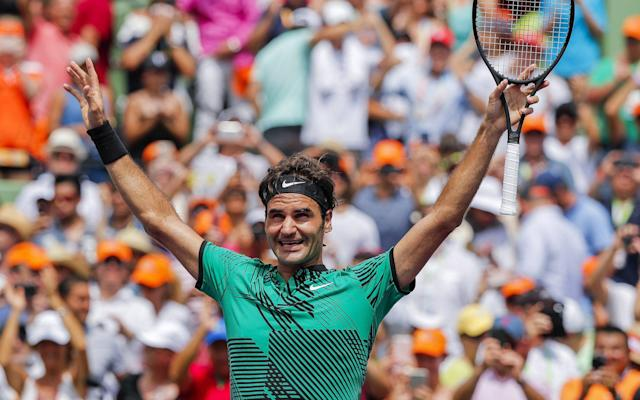 Roger Federer's wonderful 2017 continued with victory in the Miami Open - EPA