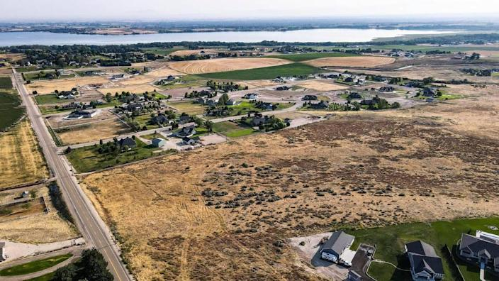 A developer proposed a 35-home subdivision on this site south of Lake Lowell near Nampa. The project sparked concern among homeowners who had been experiencing low water levels in their wells recently. Residents said new development would further threaten their water supply.