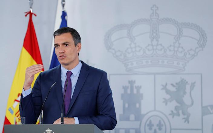 Spanish PM Pedro Sanchez defended the institution of the monarchy after former king Juan Carlos fled in to exile - Chema Moya/EPA-EFE/Shutterstock/Shutterstock