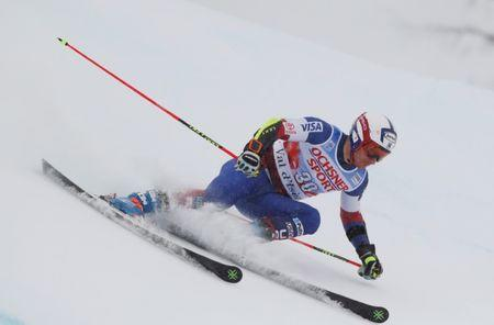 Skiing - Men's Alpine Ski World Cup Giant Slalom - Val d´Isere, France - December 9, 2017   Tim Jitloff of the U.S. in action during the Men's Alpine Ski World Cup Giant Slalom   REUTERS/Christian Hartmann