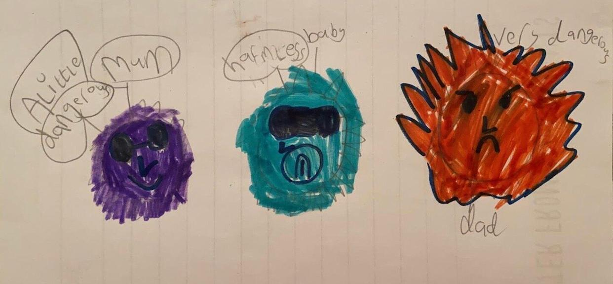 Coronavirus, by Dylan Buckland, age 5 (Photo: Great Bean Bags)