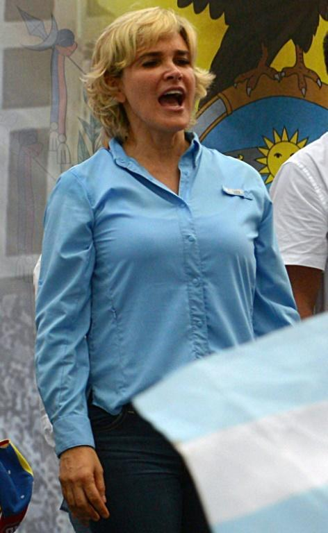 Guayaquil Mayor Cynthia Viteri, seen here taking part in a march for peace in the midst of Ecuador's deadly fuel riots in October 2019