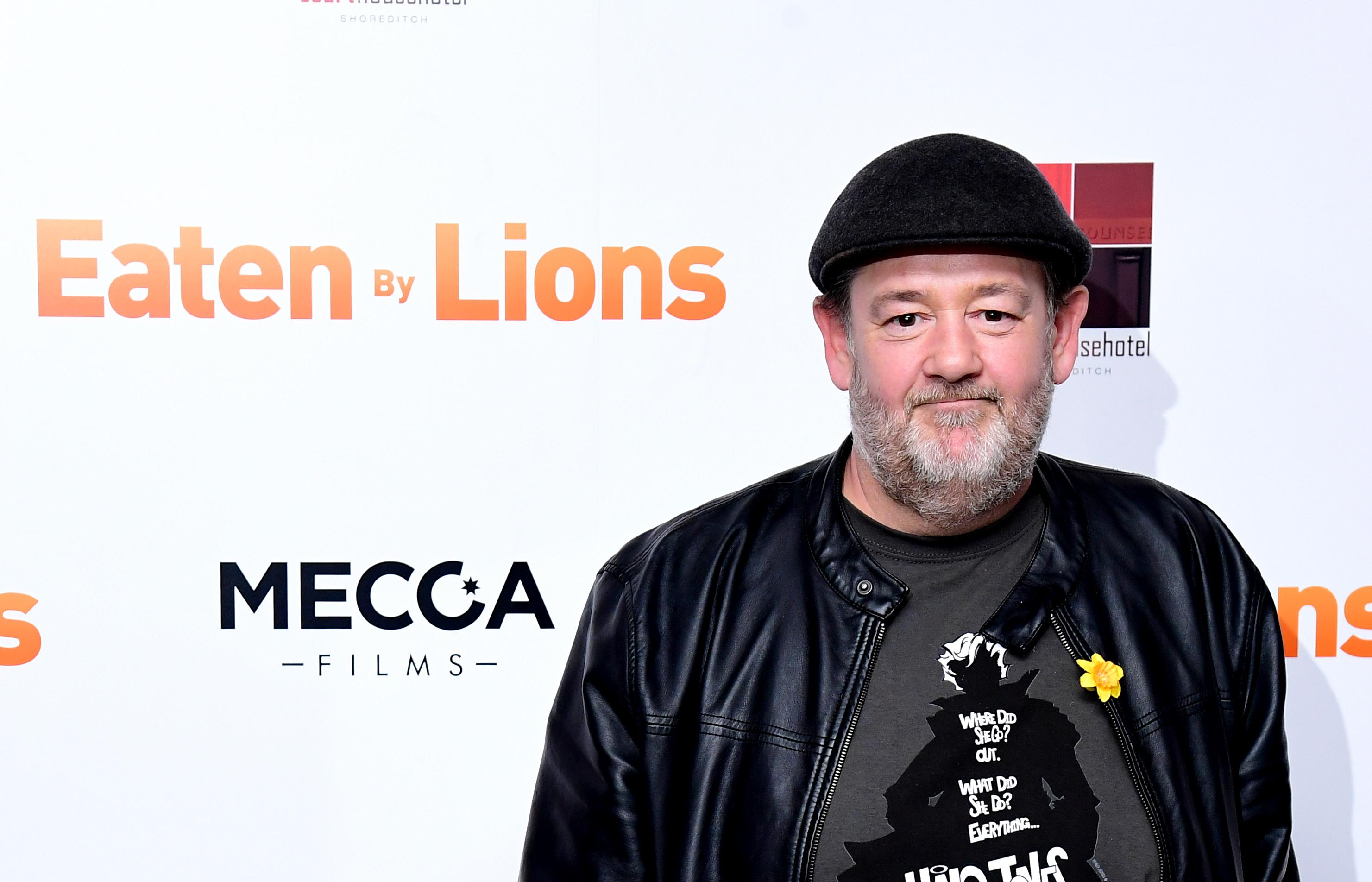Johnny Vegas attending the Eaten by Lions Premiere held at The Courthouse Hotel in London.