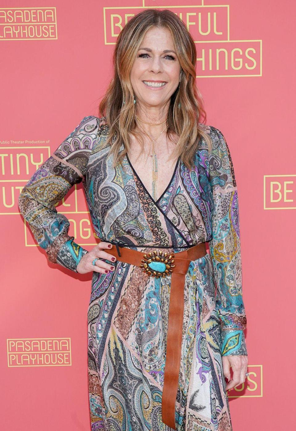 """<p>Singer and actress Rita Wilson opened up about her invasive lobular carcinoma—the second most <a href=""""https://www.prevention.com/health/health-conditions/a22734913/breast-cancer-types/"""" rel=""""nofollow noopener"""" target=""""_blank"""" data-ylk=""""slk:common type of breast cancer"""" class=""""link rapid-noclick-resp"""">common type of breast cancer</a>—in 2015. In an interview with <a href=""""https://people.com/celebrity/rita-wilson-breast-cancer-actress-undergoes-double-mastectomy-reconstruction/"""" rel=""""nofollow noopener"""" target=""""_blank"""" data-ylk=""""slk:PEOPLE"""" class=""""link rapid-noclick-resp""""><em>PEOPLE</em></a>, she expressed gratitude for her entire support system, saying, """"I am recovering and most importantly, expected to make a full recovery. Why? Because I caught this early, have excellent doctors and because I got a second opinion.""""</p>"""