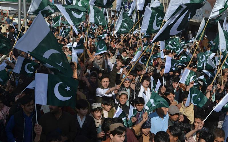 Pakistani rally against India in Quetta Pakistan- AP