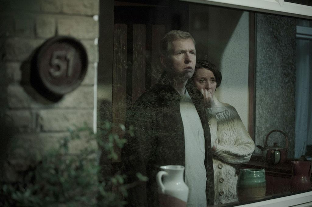 "Steve Cooper as Steve Walker and  Marie Critchley as Sue Walker in BBC America's ""In The Flesh."""