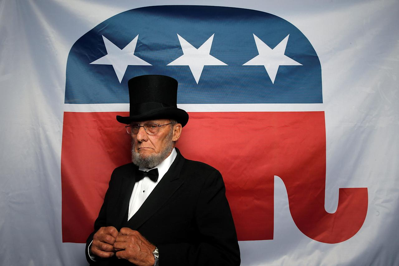 "George Engelbach, delegate from Missouri, Impersonator of former U.S. President Abraham Lincoln, poses for a photograph at the Republican National Convention in Cleveland, Ohio, United States July 20, 2016. Engelbach's message to the presidential nominee is: ""I hope you will appoint all Conservative Supreme Court Justices.""  REUTERS/Jim Young         SEARCH ""DELEGATES CONVENTIONS"" FOR THIS STORY. SEARCH ""THE WIDER IMAGE"" FOR ALL STORIES    TPX IMAGES OF THE DAY"