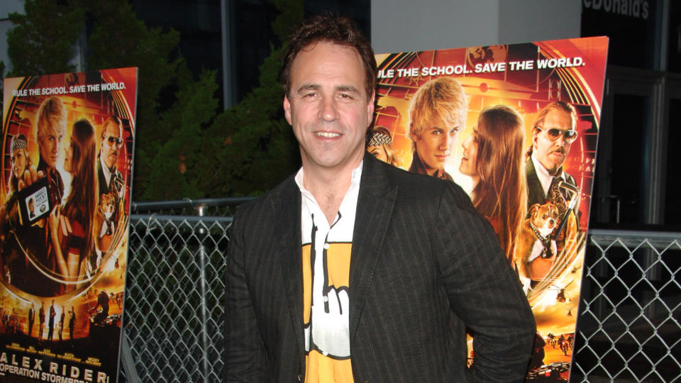 "Anthony Horowitz at the New York Premiere of ""Alex Rider: Operation Stormbreaker"" at The Intrepid Sea Air & Space Museum. (Photo by Stephen Lovekin/WireImage)"