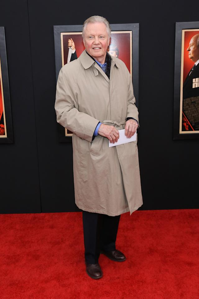 "NEW YORK, NY - NOVEMBER 18:  Actor John Voight attends the ""Hitchcock"" New York Premiere at Ziegfeld Theater on November 18, 2012 in New York City.  (Photo by Neilson Barnard/Getty Images)"