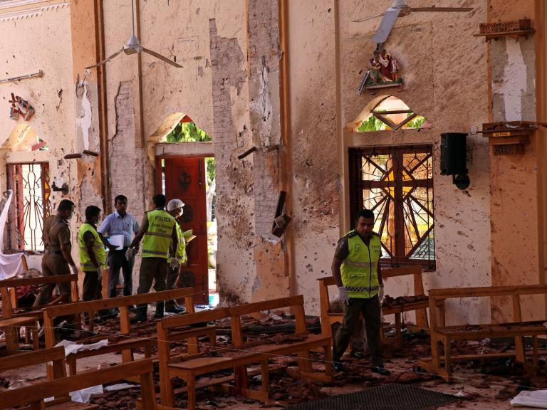 Sri Lanka bombings: Government reveals suicide attackers including man who queued calmly for breakfast responsible for deadly blasts that killed hundreds