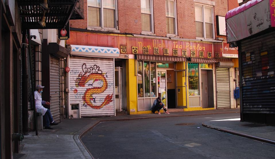 Nom Wah Tea Parlor on Doyers Street. The 100-year institution re-opened on May 17 for delivery and takeout after having been closed since mid-March. Photo: Brian Cheung / Yahoo Finance