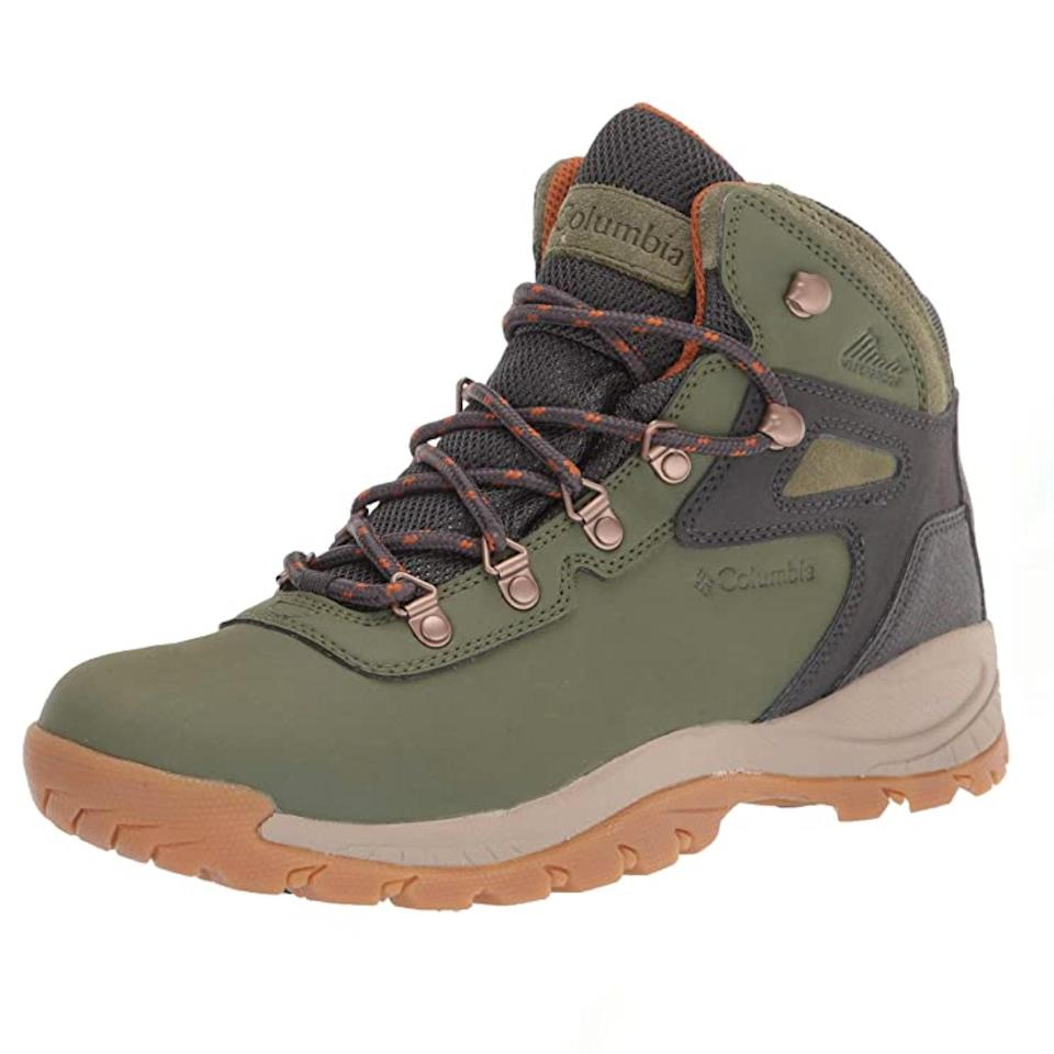 """Quality hiking boots can cost a pretty penny, but this option from Columbia is still top-notch if you're looking for an under $100 find. With 10,985 five-star reviews and counting, Amazon shoppers <a href=""""https://amzn.to/3wLWfTo"""" rel=""""nofollow noopener"""" target=""""_blank"""" data-ylk=""""slk:praise"""" class=""""link rapid-noclick-resp"""">praise</a> this budget-friendly style for being comfy, lightweight, and easy to clean. $75, Amazon. <a href=""""https://www.amazon.com/Columbia-Womens-Newton-Hiking-Regular/dp/B081DNWYD1/ref="""" rel=""""nofollow noopener"""" target=""""_blank"""" data-ylk=""""slk:Get it now!"""" class=""""link rapid-noclick-resp"""">Get it now!</a>"""