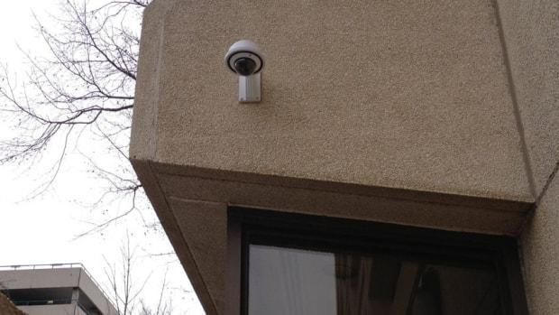 Some schools in Ottawa already used security cameras like this one. The OCDSB and the OCSB both follow provincial guidelines on video surveillance.