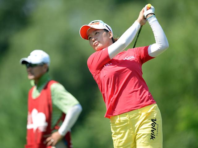 WATERLOO, CANADA - JULY 12: Chella Choi of South Korea hits a tee shot on the fourth hole during round two of the Manulife Financial LPGA Classic at the Grey Silo Golf Course on July 12, 2013 in Waterloo, Canada. (Photo by Harry How/Getty Images)