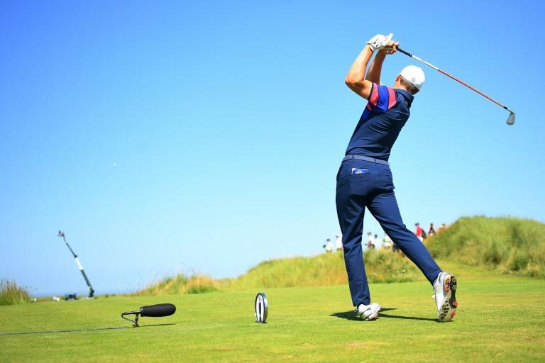 One that got away: Jordan Spieth's dropped shots late on Saturday cost him as he finished second at the British Open