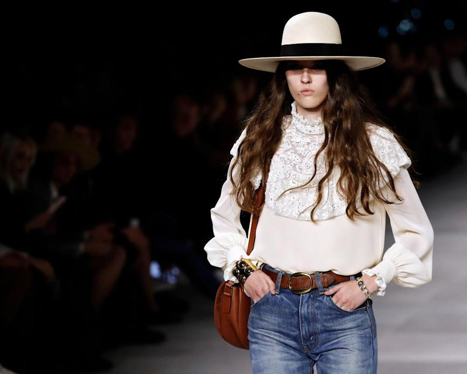 Celine's spring-summer 2020 ready-to-wear collection in Paris.