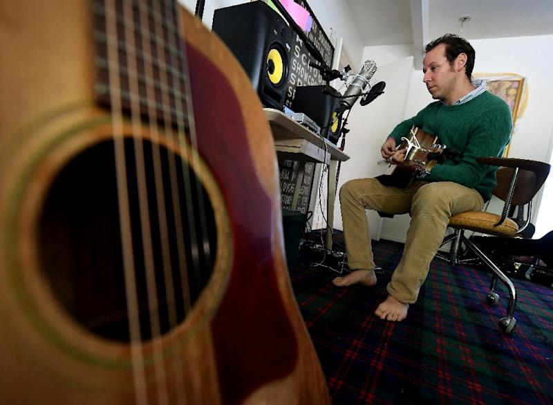 """The music on """"Ben Lee Sings Songs About Islam for the Whole Family"""" is upbeat and direct (AFP Photo/Mark RALSTON)"""