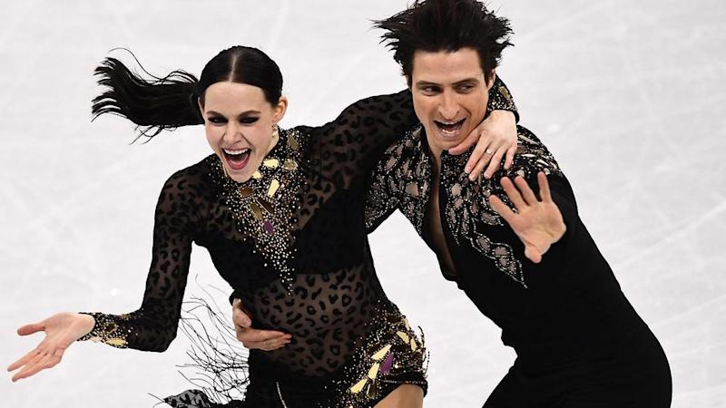 Tessa Virtue and Scott Moir tear up the ice. Pic: Getty