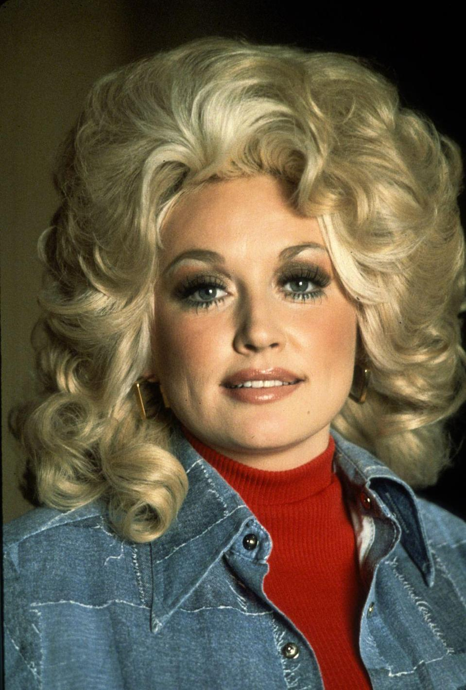 <p>A close-up on one of the defining features of Parton's style: Her hair. </p>