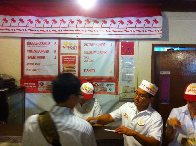 """All 300 burgers were """"choped"""" out in five minutes. (Photo by Xavier Teo)"""